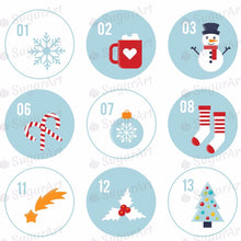 Load image into Gallery viewer, Christmas Advent Calendar - 1.5 inch - HSA045-Sugar Stamp sheets-Sugar Art