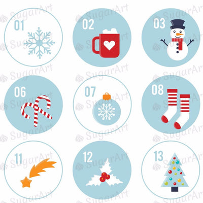 Christmas Advent Calendar - 1.5 inch - HSA045