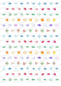 Watercolor Christmas Lights - HSA046-Sugar Stamp sheets-Sugar Art