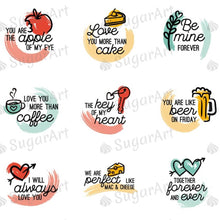 Load image into Gallery viewer, Funny Valentine Day Sayings - HSA056-Sugar Stamp sheets-Sugar Art