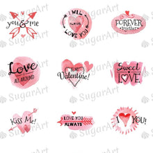 Load image into Gallery viewer, Valentine Day Watercolor Collection - HSA057 - Sugar Art