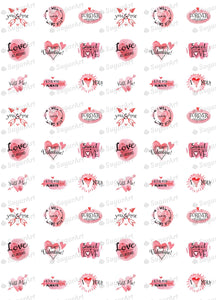 Valentine Day Watercolor Collection - HSA057 - Sugar Art