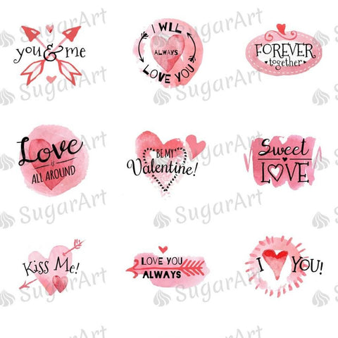 Valentine Day Watercolor Collection - HSA057