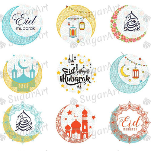 Eid Mubarak - HSA061-Sugar Stamp sheets-Sugar Art