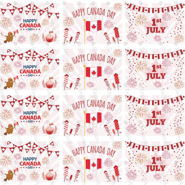 Happy Canada Day - 16 rectangles - HSA064