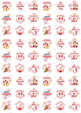 Load image into Gallery viewer, Happy Canada Day, 1st July - HSA065-Sugar Stamp sheets-Sugar Art