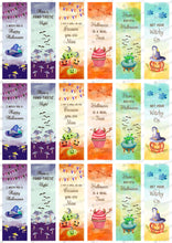 "Load image into Gallery viewer, Halloween Quotes, Rectangles - 1.2""x3.7"" - HSA069-Sugar Stamp sheets-Sugar Art"