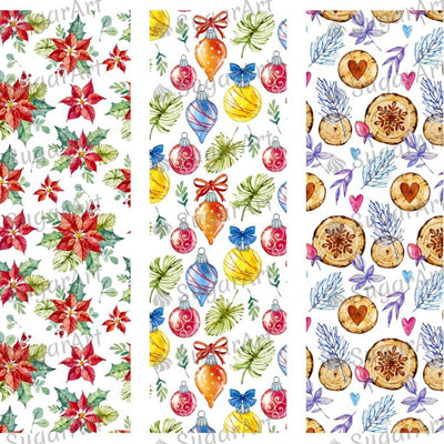 Watercolor Christmas Pattern Collection - HSA075