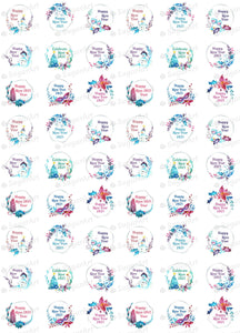 Happy New Year - HSA082 - Meringue Chocolate transfer sheets