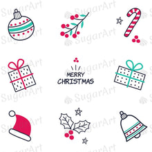 Load image into Gallery viewer, Hand Drawn Christmas Elements - HSA085 - Sugar Art