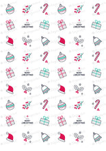 Load image into Gallery viewer, Hand Drawn Christmas Elements - HSA085-Sugar Stamp sheets-Sugar Art