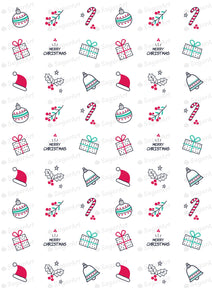Set of 8 Christmas/Winter/New Year Collection - HSA087 - Sugar Art