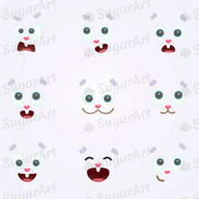 Load image into Gallery viewer, Expressions of Easter Banny - HSA088-Sugar Stamp sheets-Sugar Art