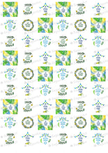 Load image into Gallery viewer, Chag Sukkot Sameach Hebrew - HSA093 - Sugar Art Canada Meringue Chocolate Transfer sheets