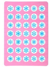 Load image into Gallery viewer, Blue Snowflakes for charms - Round Stencil Mat - HSA108