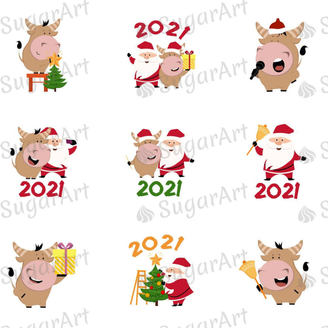 Happy New Year, 2021 - Year of the Ox - HSA052 - Sugar Art Canada - Meringue Transfer sheets