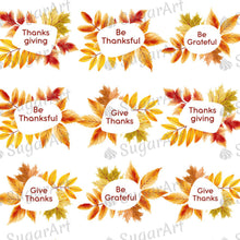 Load image into Gallery viewer, Thanksgiving Set - Be Gratful - HSA103 - Meringue Chocolate Isomalt Transfer sheets