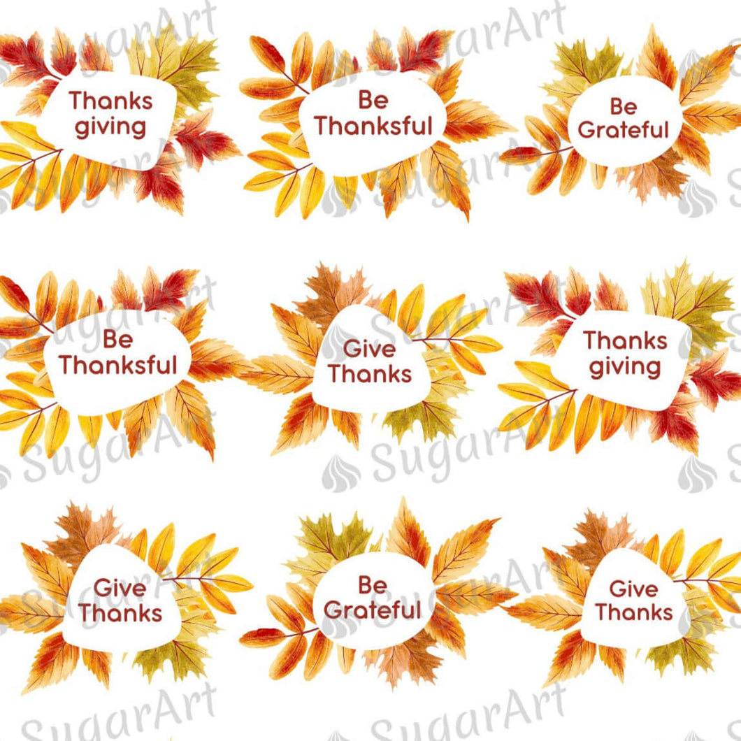 Thanksgiving Set - Be Gratful - HSA103 - Meringue Chocolate Isomalt Transfer sheets