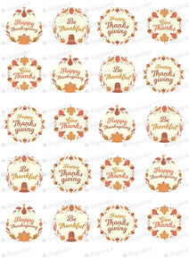 Be Thankful - Happy Thanksgiving - HSA105 - Meringue Chocolate Isomalt transfer sheets