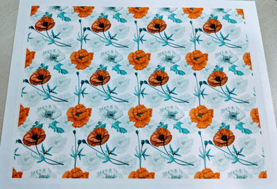Poppy Flowers Background - Icing - ISA015