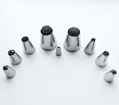 Top pick piping nozzles set of 9 pcs for Meringues & other Desserts