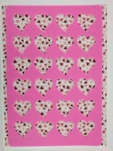 Heart Stencil Mat-Baking Supplies-Sugar Art