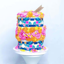 Load image into Gallery viewer, Floral Vintage Stripes - Icing - ISA001-Icing/Frosting Paper-Sugar Art