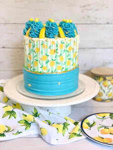 Lemons and Leafs Pattern - Icing - ISA065