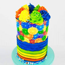 Load image into Gallery viewer, Rainbow Orange Background - Icing - ISA063