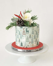 Load image into Gallery viewer, Winter Woodland Pattern Decoration - Icing - ISA113