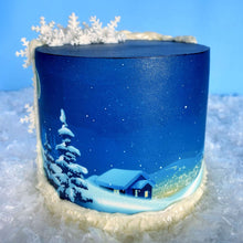 "Load image into Gallery viewer, ""Winter Night"" Cake Decorating Class With Pamela From Buttercut Bakery - Sugar Art Canada -SAVT002"