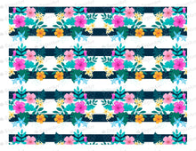Load image into Gallery viewer, Floral Vintage Stripes - Icing - ISA001 - Sugar Art