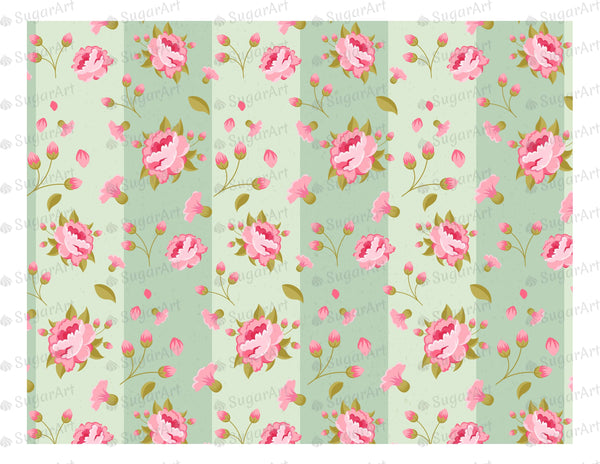 Vintage Peony Flower Background - Icing - ISA002
