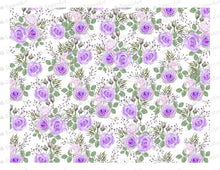 Load image into Gallery viewer, Purple Roses Pattern - Icing - ISA005-Icing/Frosting Paper-Sugar Art