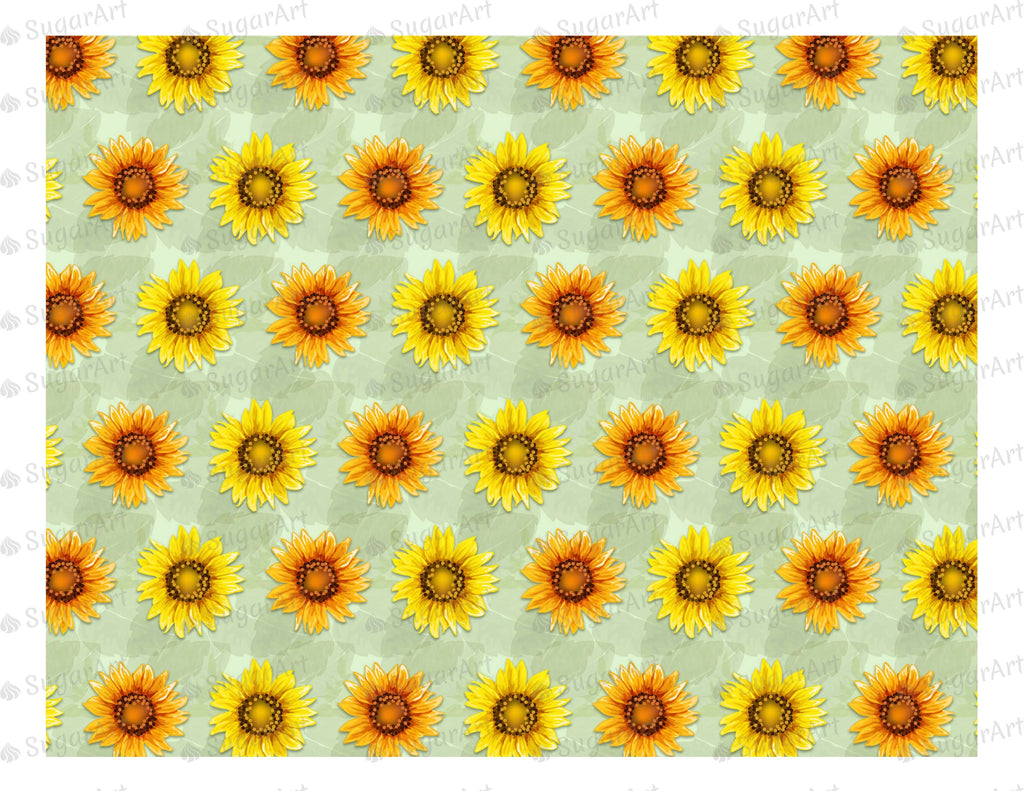 Sunflowers Pattern - Icing - ISA007