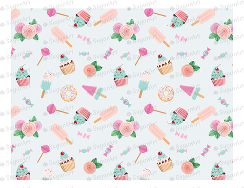 Birthday Sweet Background - Icing - ISA010 - Sugar Art