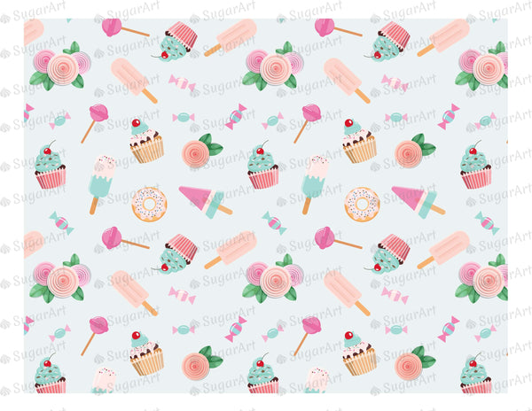 Birthday Sweet Background - Icing - ISA010