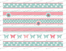 Load image into Gallery viewer, Shabby Chic Striped Background- Icing - ISA011 - Sugar Art