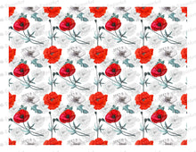 Load image into Gallery viewer, Poppy Flowers Background - Icing - ISA015-Icing/Frosting Paper-Sugar Art