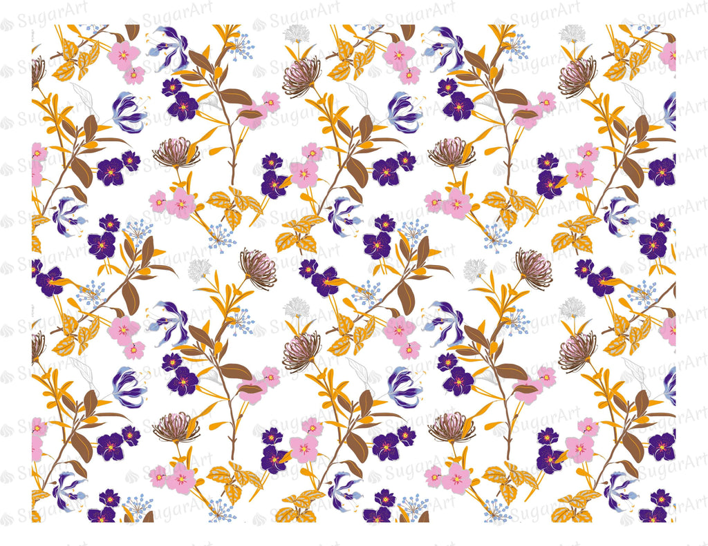 Blooming Garden Floral Pattern - Icing - ISA022