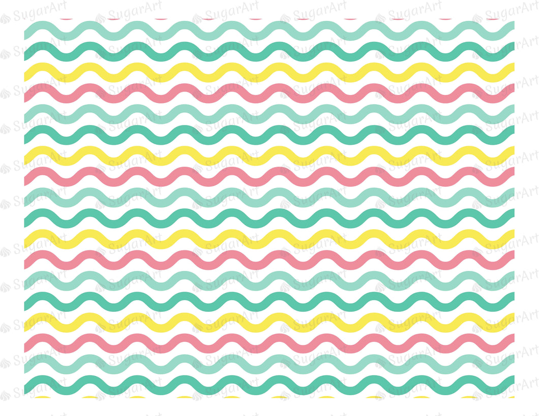 Zig Zag Background - Icing - ISA036-Icing/Frosting Paper-Sugar Art