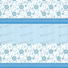 Load image into Gallery viewer, Blue Floral Background Artwork - Icing - ISA044-Icing/Frosting Paper-Sugar Art