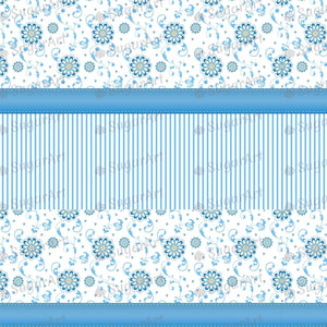Blue Floral Background Artwork - Icing - ISA044-Icing/Frosting Paper-Sugar Art