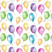 Load image into Gallery viewer, Colorful Balloons Watercolor Pattern - Icing - ISA050-Icing/Frosting Paper-Sugar Art