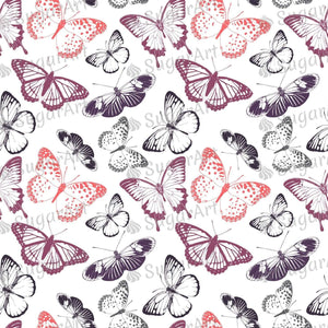 Butterflies Pattern - Icing - ISA057-Icing/Frosting Paper-Sugar Art