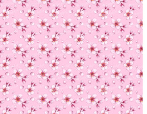 Pink Cherry Blossom Pattern - Icing - ISA058-Icing/Frosting Paper-Sugar Art