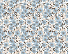 Light Blue Flowers Background - Icing - ISA062-Icing/Frosting Paper-Sugar Art