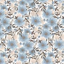 Load image into Gallery viewer, Light Blue Flowers Background - Icing - ISA062-Icing/Frosting Paper-Sugar Art