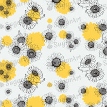 Load image into Gallery viewer, Daisies Hand Drawn Pattern - Icing - ISA069-Icing/Frosting Paper-Sugar Art