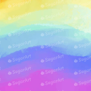 Rainbow Tie Dye Style Background - Icing - ISA070-Icing/Frosting Paper-Sugar Art